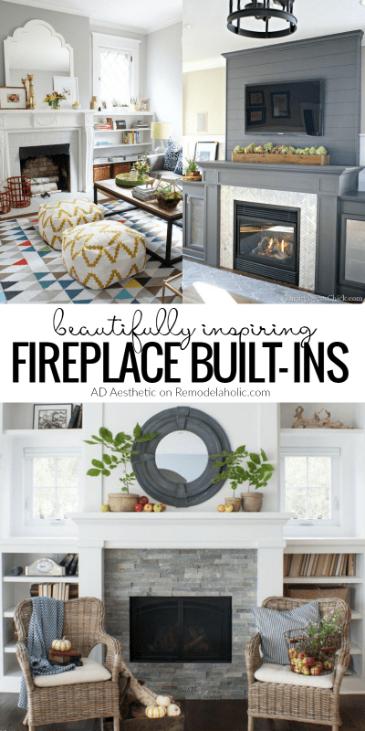 Beautiful Inspiring Fireplace Built Ins @Remodelaholic