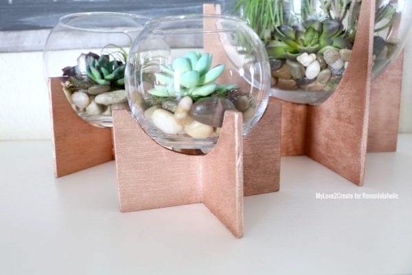 Close Up Of Cross Based Terrariums, MyLove2Create