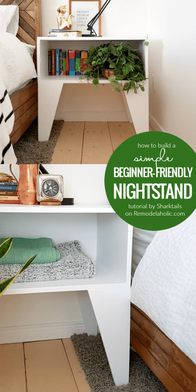 How to build a simple and easy nightstand | Beginner friendly building tutorial by Sharktails on Remodelaholic.com