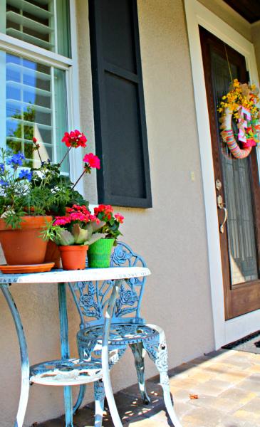 Fácil actualización de la terraza de flores de primavera.