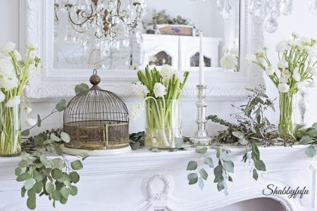 Farmhouse Spring Mantel