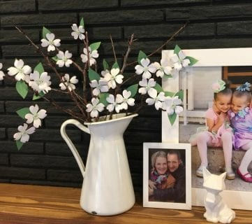 It's Spring! Free Printable Dogwood-Inspired Paper Flower