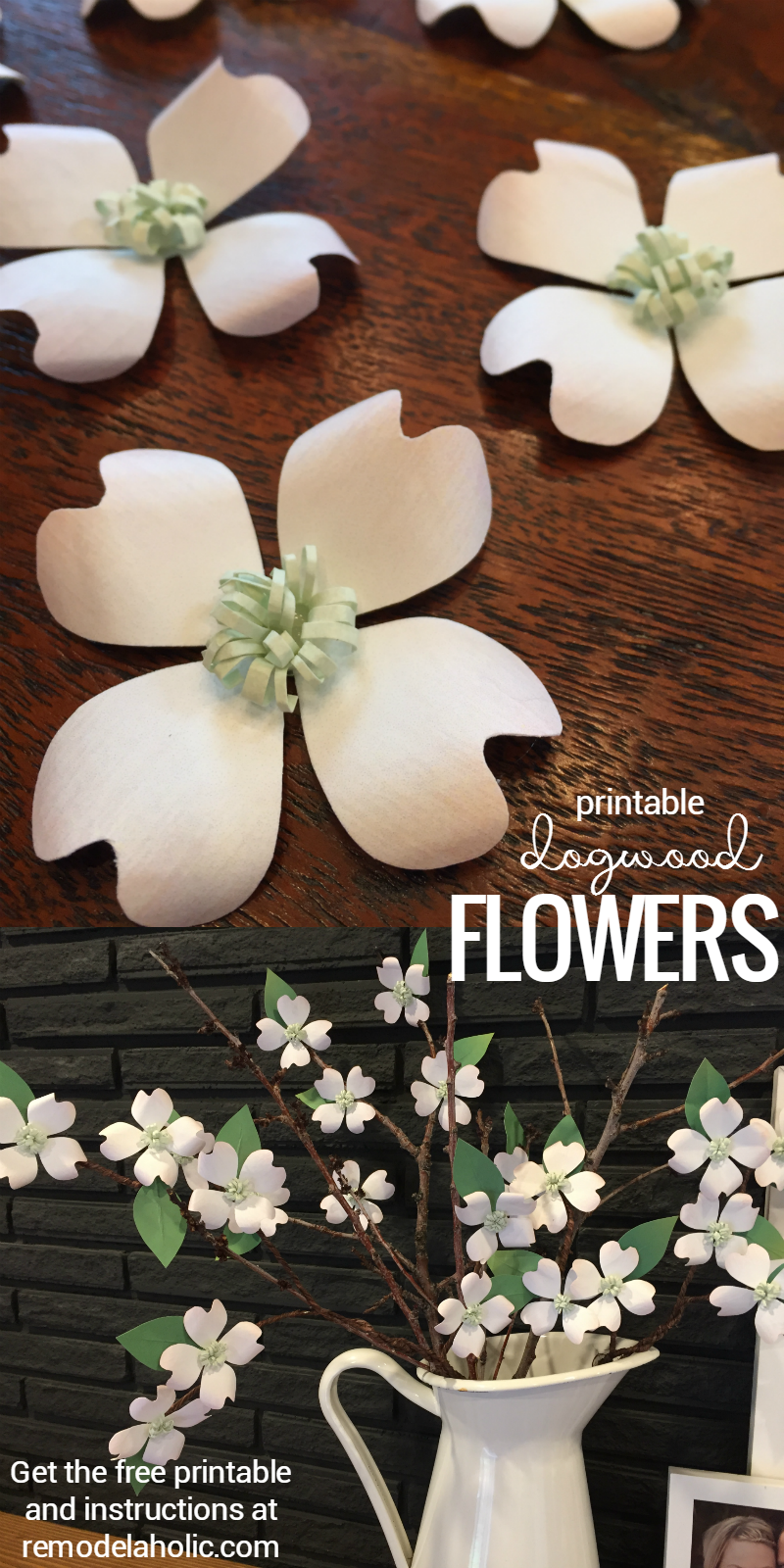 Remodelaholic Its Spring Free Printable Dogwood Inspired Paper