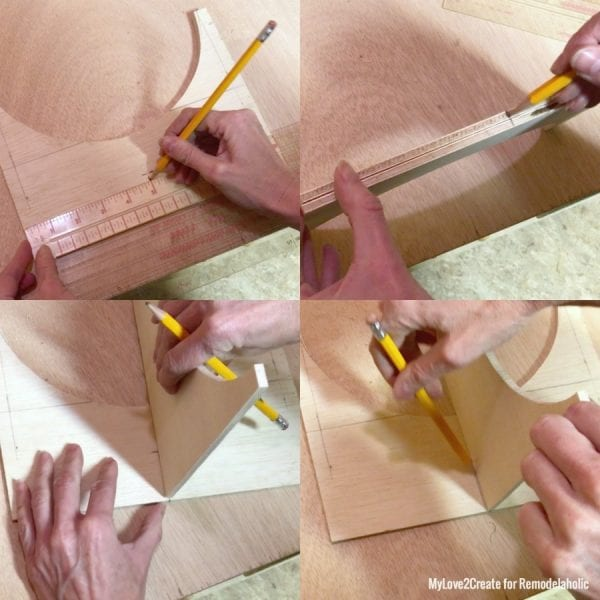 Marking Cut Lines Of Where To Cut On The Cross Base, MyLove2Create