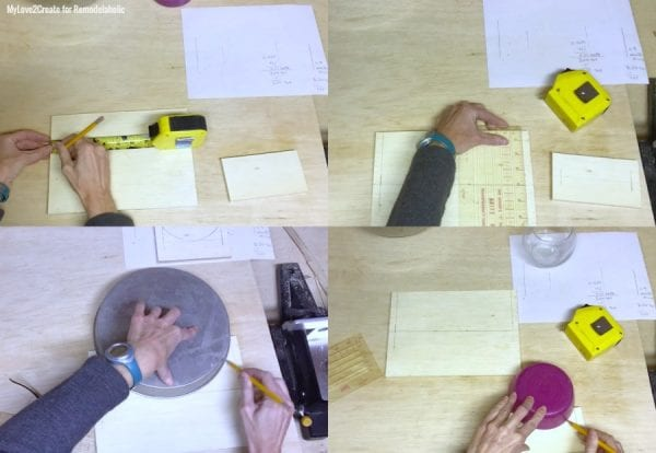Measuring Where To Cut Semi Cirlces, MyLove2Create