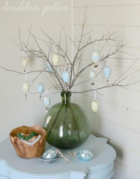 Paper Napkin Decoupage Egg Tree