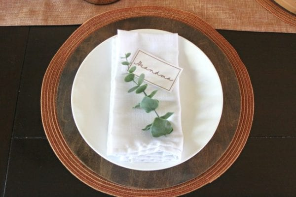 Place Setting With Charger Love Create Celebrate