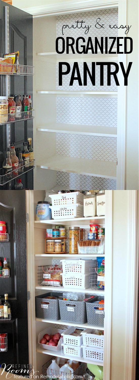remodelaholic pretty easy pretty organized pretty pantry makeover