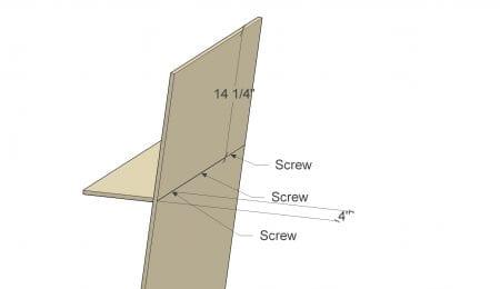 Remodelaholic Plywood Leaning Shelf Assembly 5