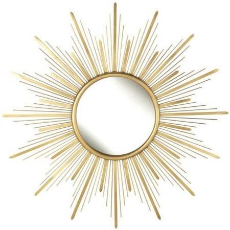 Shabby Chic Mid Century Starburst Mirror