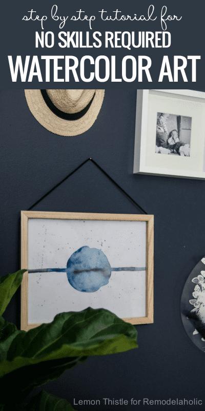 Tutorial: DIY Simple Watercolor Art Tutorial | Easy Wall Art Ideas | No Art Skills Required | Beginner Watercolor Tutorial and Tips | Remodelaholic.com