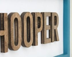 Wood Cut Out Name Plaque Detail That's My Letter