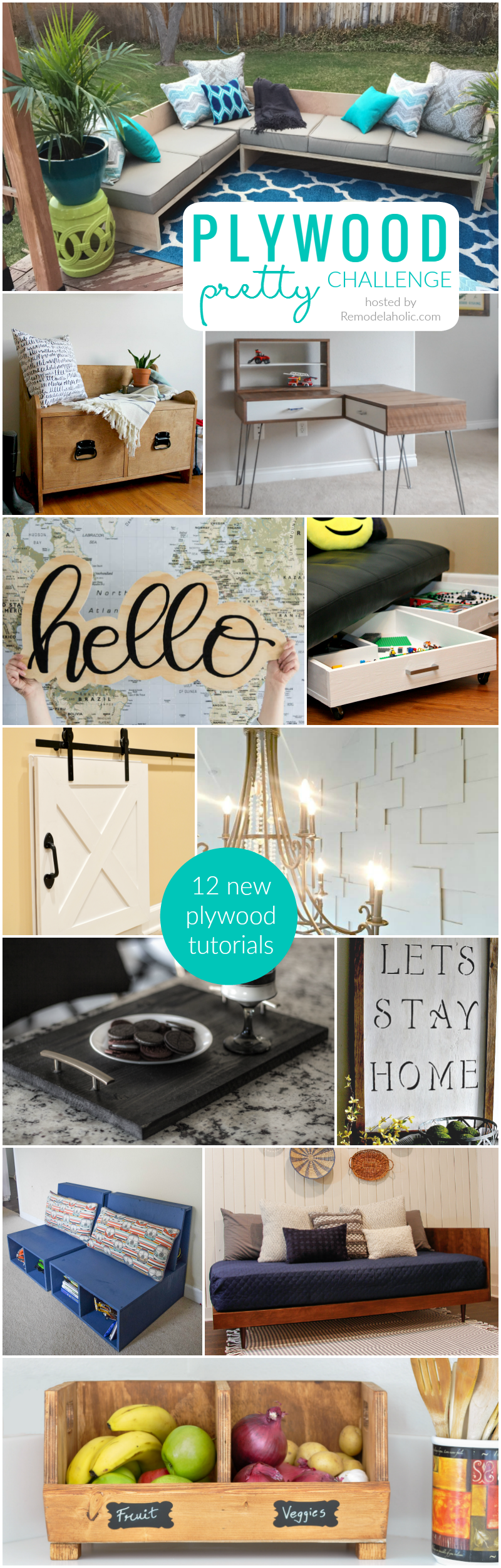 The #PlywoodPretty Challenge: Create anything with plywood. One condition: It has to be amazing. 12 new plywood tutorials for home decor and organizing.