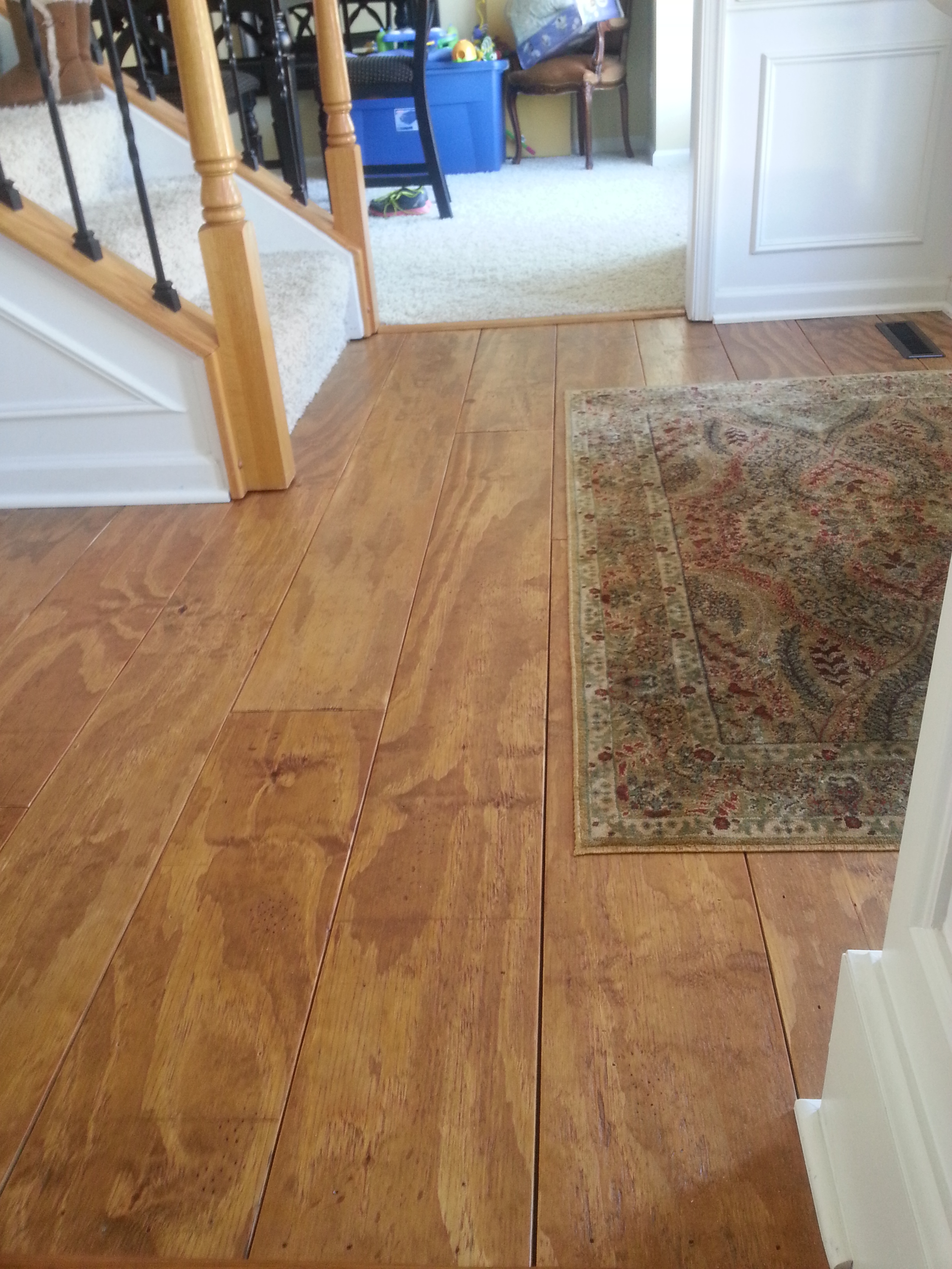 Remodelaholic diy plywood flooring pros and cons tips addicted2projects plywood plank flooring dailygadgetfo Gallery