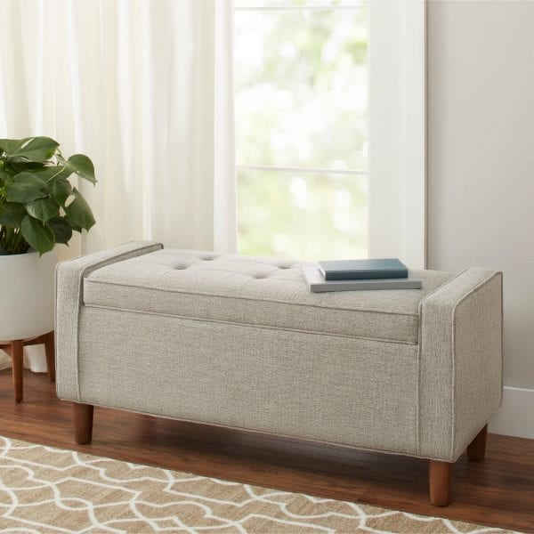 BHG Flynn Upholstered Storage Bench