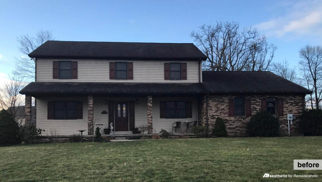 Before | Adding curb appeal to a two story home