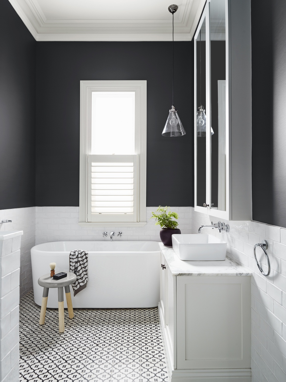 Paint Colors For A Black And White Bathroom remodelaholic | most popular black paint colors