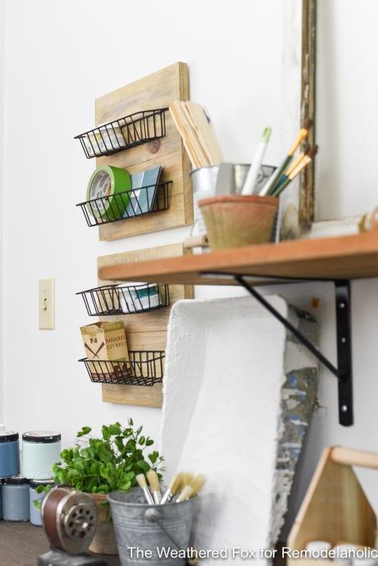 DIY Farmhouse Wall Baskets The Weathered Fox 3