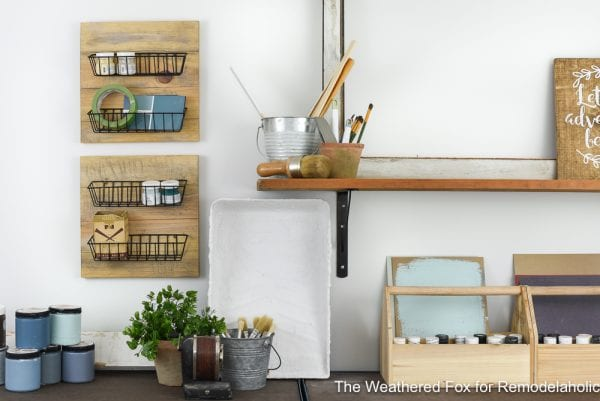 DIY Farmhouse Wall Baskets. Create Farmhouse Style Wall Baskets With Dollar Store Items. Get This Tutorial From The Weathered Fox On Remodelaholic!