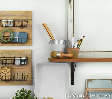 Farmhouse Style Wire Wall Baskets (from Dollar Store Items)