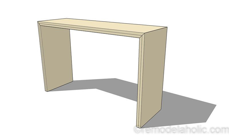 DIY Waterfall Plywood Console Table @remodelaholic 1