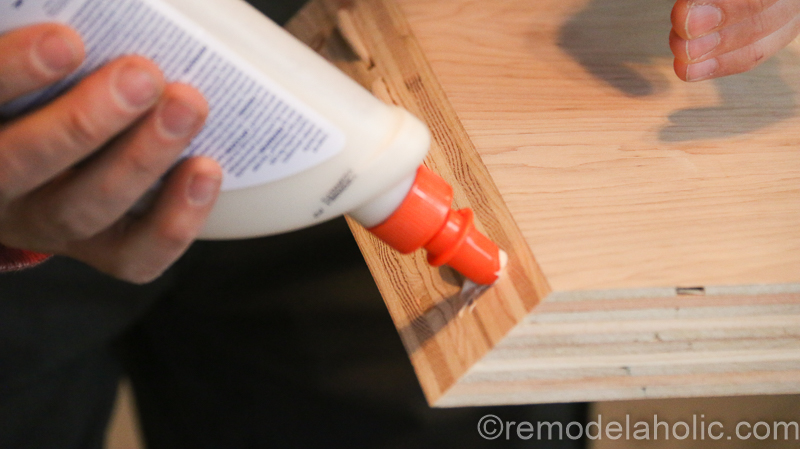 DIY Waterfall Plywood Console Table @remodelaholic 17