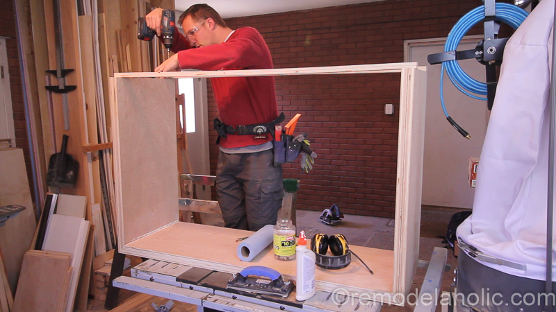 DIY Waterfall Plywood Console Table @remodelaholic 19
