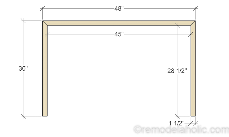 Plywood Console Table ~ Remodelaholic diy waterfall plywood console table