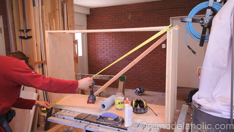 DIY Waterfall Plywood Console Table @remodelaholic 20