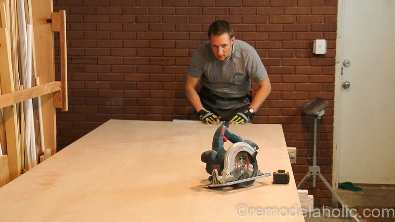 DIY Waterfall Plywood Console Table @remodelaholic 6