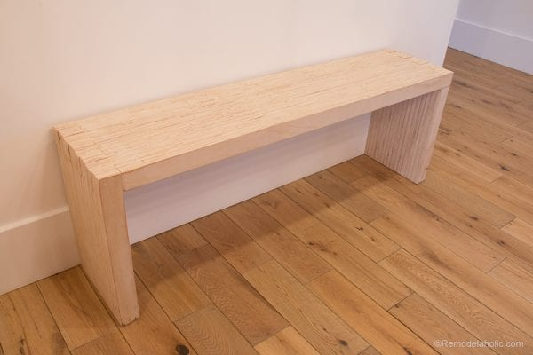 DIY Modern Plywood Bench Tutorial Half Lap Construction @remodelaholic 1