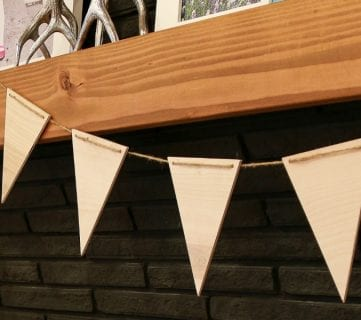 Easy Plywood Pennants By Remodelaholic 4
