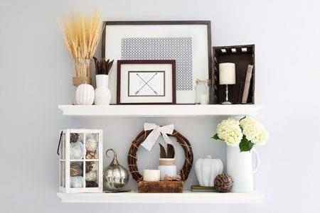 Fall Shelf Decor Horizontal