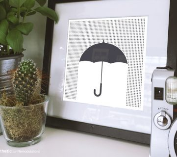 Free Printable: Modern Umbrella… ella… ella…
