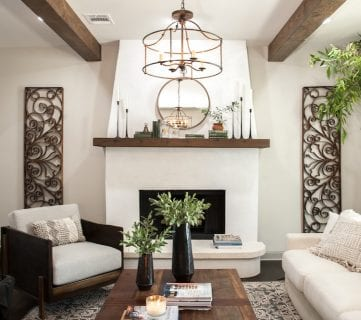 "Get This Look: Farmhouse Formal Living Room from ""Fixer Upper"" Hot Sauce House"