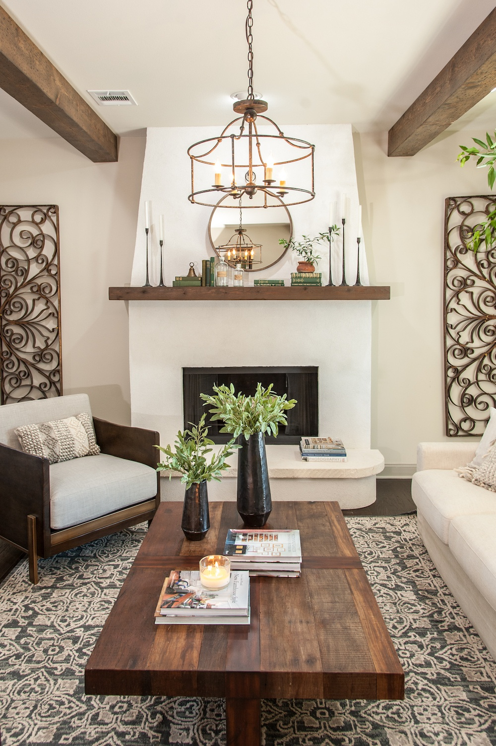 Italian Living Room Design: Get This Look: Farmhouse Formal Living