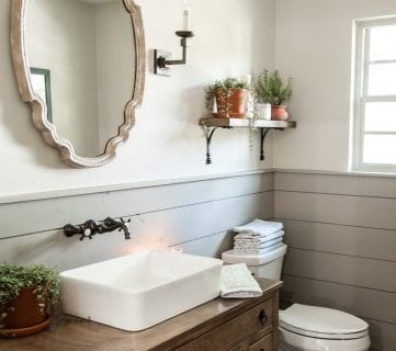 Get This Look: Fixer Upper Hot Sauce House Powder Room