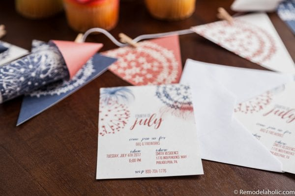 4th of July Party Ideas and Invitations: Patriotic Printable Party Pack with editable invitations for 4th of July BBQ
