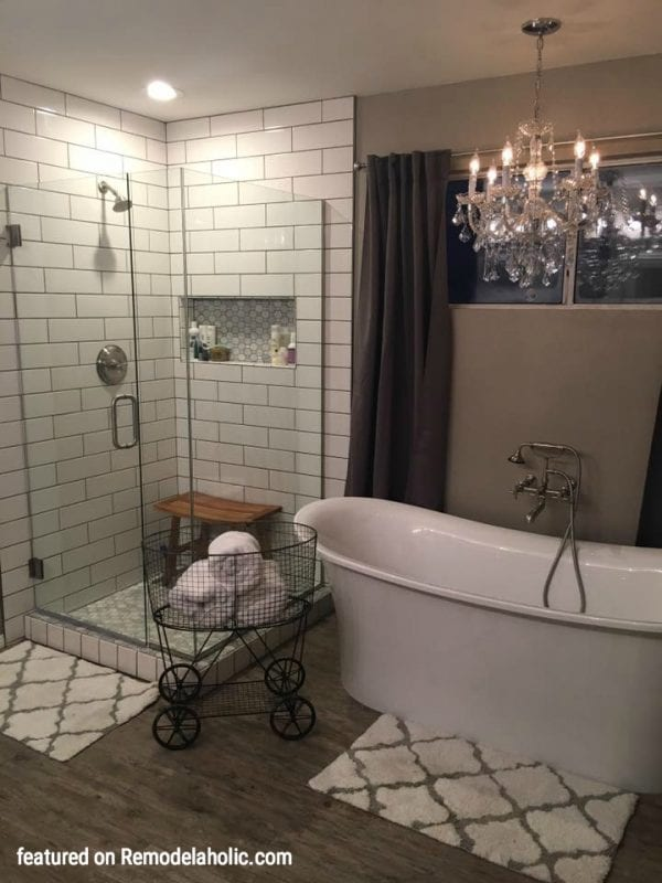 Master Bathroom Sunday Share Makeover Featured On Remodelaholic.com