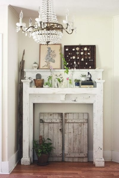 Remodelaholic no mantel no problem 25 ideas for for Fireplace no mantle