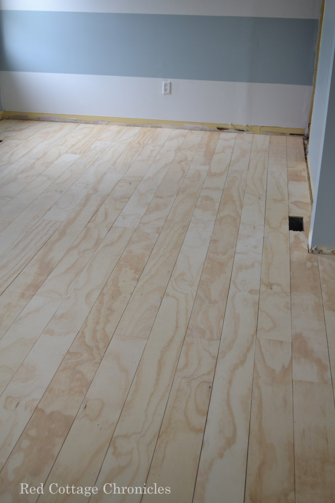 Perfect Red Cottage Chronicles, Diy Plywood Floors