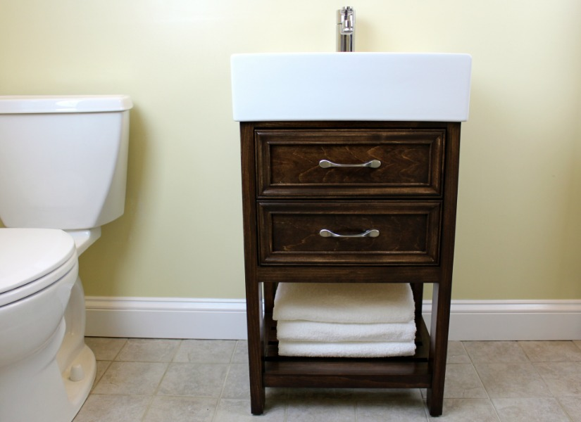 free ikea hack how to build a small diy bathroom vanity with plan snack ikea. Black Bedroom Furniture Sets. Home Design Ideas