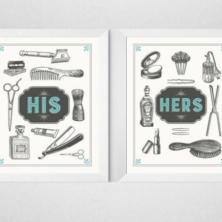 Bold Bathroom Design 13 His And Hers Art