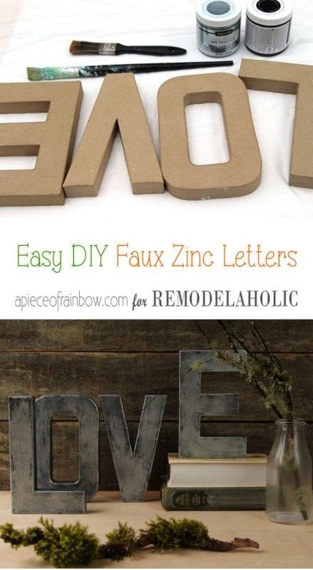 Diy Faux Zinc Letters Apieceofrainbow (1)