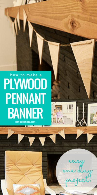 Easy DIY  Plywood Pennant Banner @Remodelaholic #PlywoodPretty