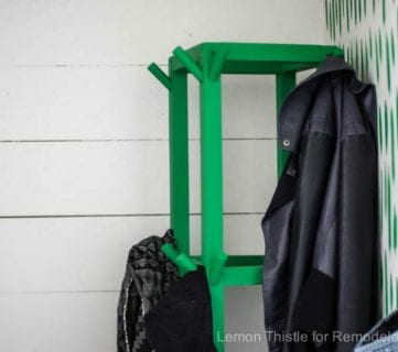 Easy DIY Wooden Cube Coat Rack for Just $10