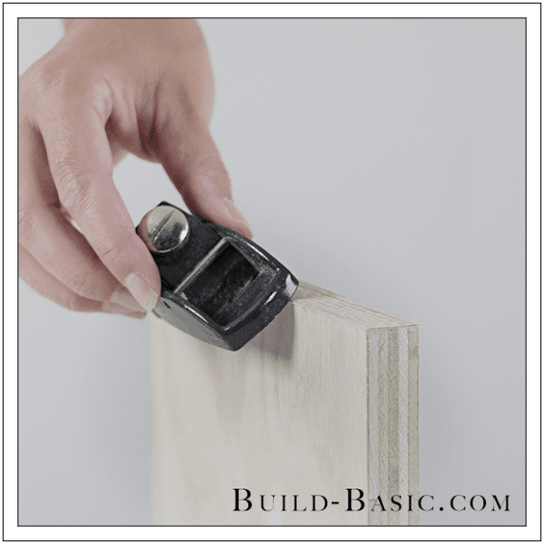 Finish Plywood Edges With Veneer Edge Banding Trimmer, Build Basic