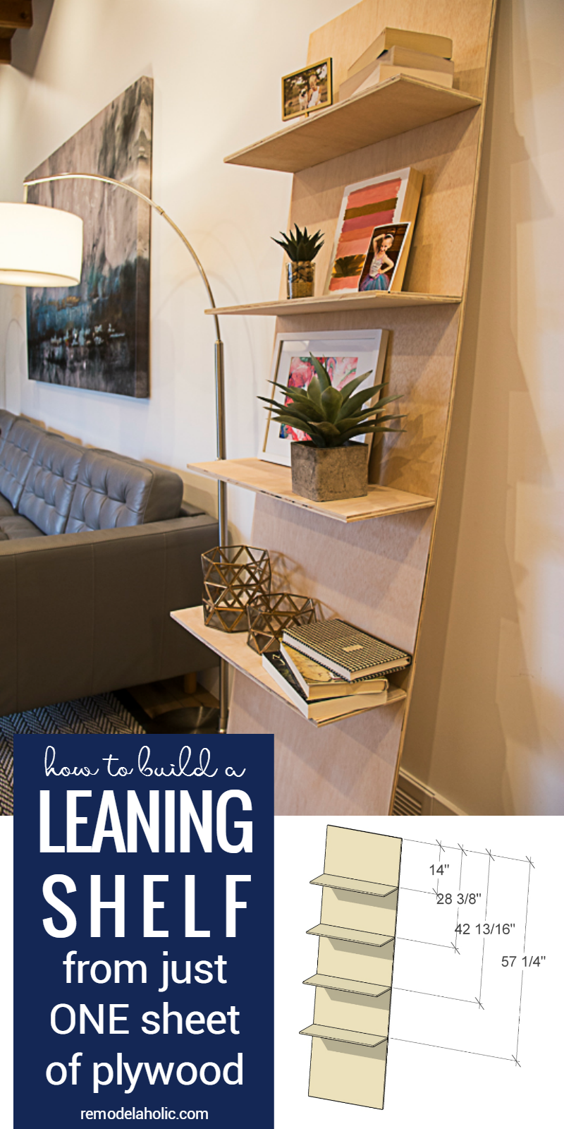 How To Build A One-Sheet Plywood Leaning Shelf