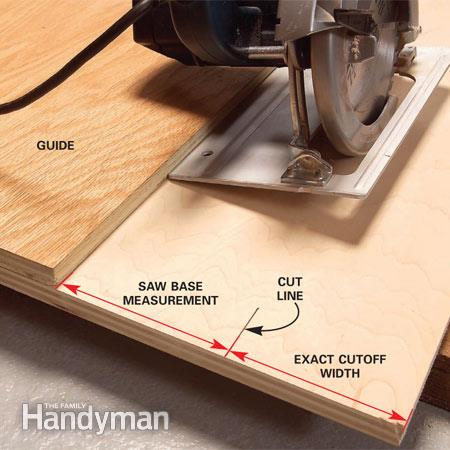 How To Make A Circular Saw Cutting Guide, Family Handyman