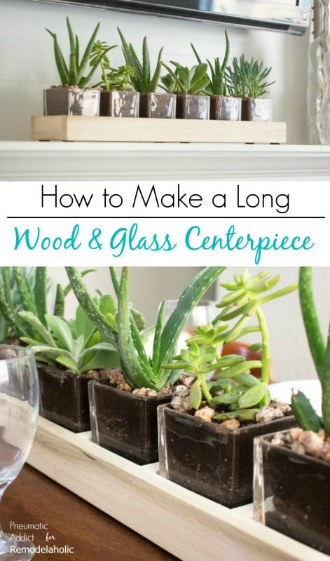 Remodelaholic how to build a long wood and glass planter